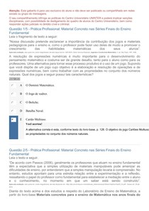 PRATICAS PROFISSIONAIS MATERIAL CONCRETO SERIES FINAIS ENSINO MEDIO