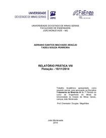 Relatório FLOTAÇÃO lab