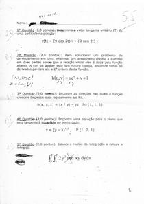 Prova Cálculo II - arquivo 2