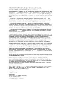 Modelo De Petição Inicial De Ação Revisional De Aluguel Dire
