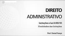 Conceito, competência legislativa, sujeitos e finalidade - Apresentação (parte 4)