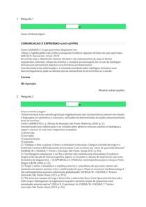 AOL 4 E AOL5 - COMUNICAÇÃO E EXPRESSÃO - UNINASSAU
