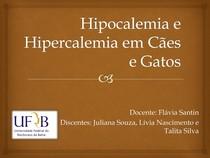 Hipocalemia e Hipercalemia em Cães e Gatos