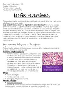 Lesões reversíveis