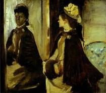 Edgar Degas - Madame Jeantaud in the mirror