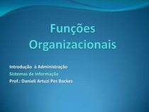 Funções Organizacionais
