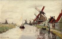 Windmills In Holland-Claude Monet