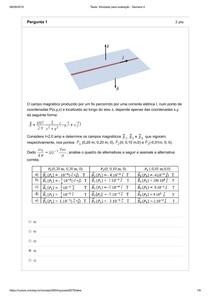 Fisica III - Atividade para avaliação - Semana 4