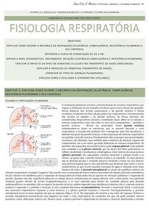 Fisiologia Respiratória - Resumo