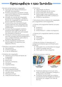 Hipercoagulação e risco trombótico