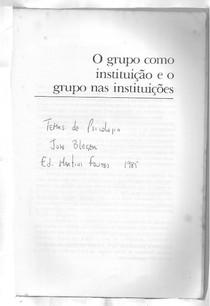 Temas de Psicologia - José Bleger