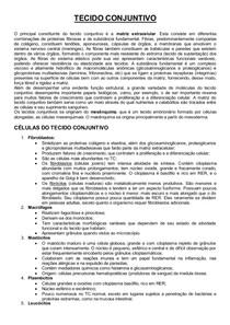 Resumo Tecido Conjuntivo (Livro: Histologia Básica, Junqueira)