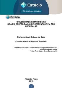 ESTÁCIO - sistemas e tecnologias da informação e comunicação em saúde