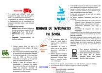 GEOGRAFIA - REDE DE TRANSPORTES