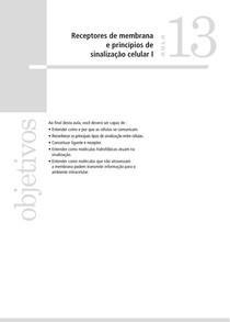 Bio Cel I 13 Receptores de Membrana e Princípios de Sinalização Celular I