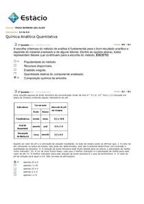Simulados de Química Analítica Quantitativa
