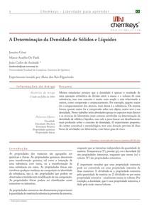 Artigo densidade de sólidos e Líquidos