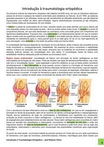 Introdução à traumatologia ortopédica