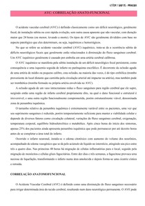 AVC - CORRELAÇÃO ANATOMOFUNCIONAL