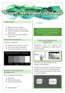 Radiologia odontológica - técnicas radiográficas intrabucais