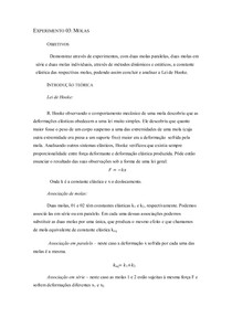 Experimento 03 - Molas