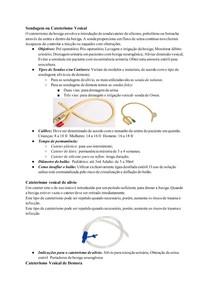 Sondagem ou Cateterismo Vesical