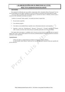 Apostila  de Questões Processo Civil Fase Final