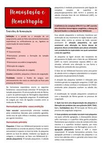 hemostasia e hemorragia- resumo