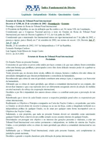 DJi - Estatuto de Roma do Tribunal Penal Internacional - D-004