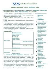 DJi - Direito Administrativo - Matéria Administrativa - Administrativo