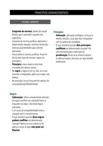 Direito Administrativo - Princípios Administrativos - Resumo