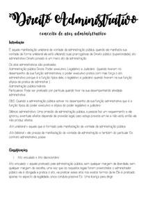 Direito Administrativo - Conceito de Atos administrativo