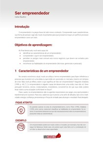 Tema 05 - Ser Empreendedor