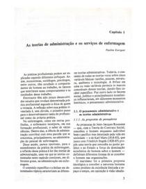 Administração em Enfermagem - Capítulo 1, pags 3 à 13