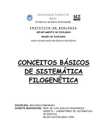 Apostila Sistemática Filogenética
