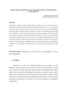 artigo alfabetizaÇÃo e letramento ( práticas de alfabetizaçãoartigo alfabetizaÇÃo e letramento ( práticas de alfabetização e letramento 2° ano fundamental)