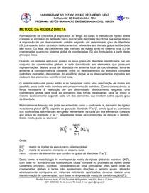 Análise Estrutural I_Método da Rigidez