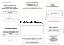 Mapa mental padrões de herança