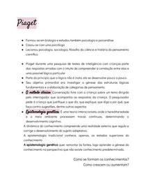 Piaget - Resumo