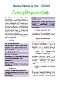 Exames Complementares - CIRURGIA ORAL