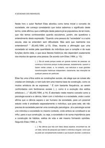 A SOCIEDADE DOS INDIVÍDUOS- Resumo