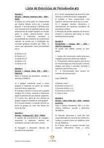 Lista de Exercícios de Periodontia #2 - Odontologia Para Concursos