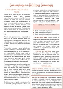 CRIMINOLOGIA E POLÍTICAS CRIMINAIS