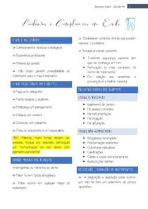 Acidentes e complicações em endodontia
