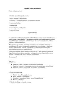 APOSTILHA DA I UNIDADE - CONFEITARIA E DOCERIA - 2020