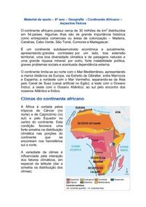 Material de apoio aspectos naturais da África