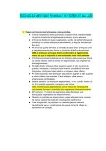 Fisiologia da maturidade pulmonar e os critérios de avaliação