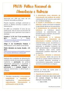 PNAN: POLÍTICA NACIONAL DE ALIMENTAÇÃO E NUTRIÇÃO