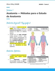 Métodos para o Estudo da Anatomia
