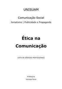 Ética na Comunicação   Apostila de Códigos